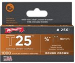 3/8'' Round Crown Staples, 1000 Per Box