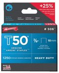 3/8'' Type Staples, 1250 Per Box