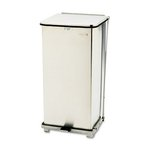 Step Can, Square, Steel, 24 Gallon