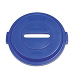 Brute Paper Recycling Top for 32 Gallon Brute Containers, Blue