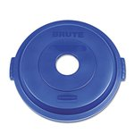 Brute Bottle or Can Recycling Top for 32 Gallon Brute Containers, Blue