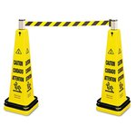 Portable Barricade System Yellow, Caution