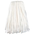 Nonwoven Cut End Edge Mop, Rayon/Polyester, #24, White