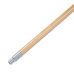 Metal Tip Threaded Hardwood Broom Handle, 60-in Long