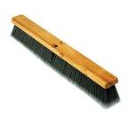 "Floor Brush Head, Gray Flagged Polypropylene 24"""