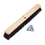 Floor Brush Head, Maroon Stiff Polypropylene 24''