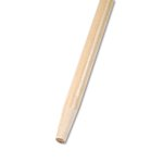 Tapered End Broom Handle, Laquered Hard Wood, 1-1/8 Dia. x 60 Long