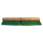 Push Broom Head, 3 Green Flagged Recycled PET Plastic 24""