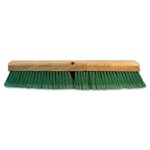 Push Broom Head, 3 Green Flagged Recycled PET Plastic 18""