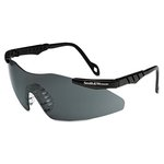 Magnum 3G Safety Eyewear, Black Frame, Smoke Lens
