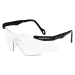 Magnum 3G Safety Eyewear, Black Frame, Clear Lens