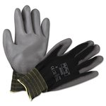 Lite Gloves, Black and Gray, Size 8, One Pair