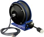 30-ft Quad Box Compact Power Cord Reel 12/3 AWG
