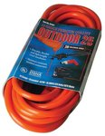 Vinyl Red Extension Cord 25-ft 125V