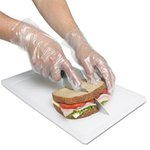 Polyethylene Gloves, Powder-Free, Large, Clear