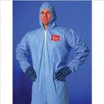 Tempro Coveralls, Serged Seams, Breathable, Light Blue, Blue, 4 XL