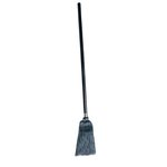 Black, Lobby Pro Synthetic-Fill Broom-7.5-in Handle