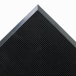Mat-A-Dor Entrance/Scraper Mat, Rubber, 24-in x 32-in, Black