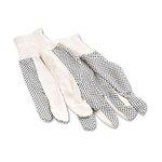 PVC Dotted Cotton Canvas Glove, Men