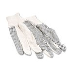 PVC Dotted Cotton Canvas Glove, Men