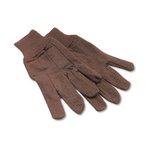 Jersey Knit Wrist Clute Gloves, One Size, Brown