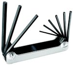 9 Key Alloy Steel Hex Wrench Set with Chrome Nickel Finish