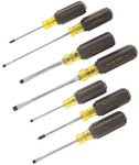 7 Piece Cushion Grip Screwdriver set with Nickel Chrome Plated Shank