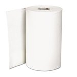 Hardwound Roll Paper Towel, Nonperforated, White