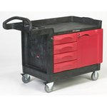Cart with 4-drawer and Cabinet, Small