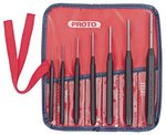 Seven Piece Round Steel Drive Pin Punch Set