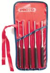 5 Piece Long Round Steel Drive Pin Punch Set