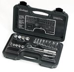 20 Piece Deep and Standard Socket Set, 3/8''