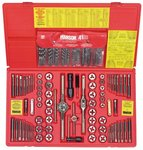 117 Piece Fractional/Metric Tap, Die and Drill Bit Deluxe Set