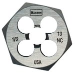 9/16'' High Carbon Steel Fractional Hexagon Dies