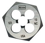 5/8'' High Carbon Steel Fractional Hexagonal Dies, 18 Threads Per-in