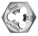 1'' High Carbon Steel Rethreading Fractional Hexagon Die, 14 Threads Per-in