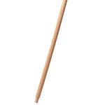 Natural, Wood Threaded-Tip Broom/Sweep Handle-60-in