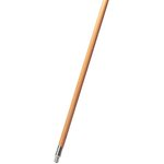 Natural, Lacquered-Wood Threaded-Tip Broom/Sweep Handle-60-in