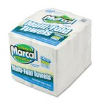 Embossed Paper Towels, Multifold, White