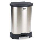 30 Gallon Stainless Steel Step- On Container