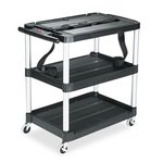 Av Cart with 3 Shelf, 33-in