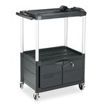 AV cart with 3 Shelves and Cabinet, 42-in Wide