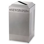Silhouette Square Recycling Receptacle 29 Gallon
