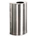 12 Gallon , Half Round, Open Top Steel Receptacles
