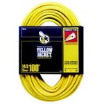 100FT Contractor Grade Extension Cord, Yellow