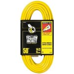 50FT Vinyl Indoor Extension Cord, Yellow