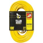 100FT, 3 Conductor Extension Cord, Yellow