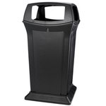 Fire-Safe Container with Four Open Sides, 65 Gallon, Black