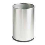 Commercial Metallic Series Wastebasket, Round, 5 Gallon