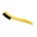 Tile and Grout Brush, Yellow, Plastic Handle